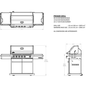 Profesionální plynový gril Napoleon PRESTIGE PRO600