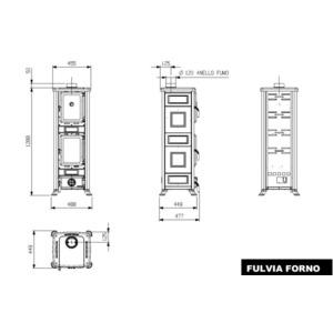 Krbová kamna Nordica FULVIA - kamna s troubou