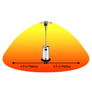 Plynový tepelný zářič Enders Cosystand PROFI Edelstahl