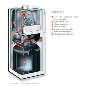 Plynový kondenzační kotel se zásobníkem