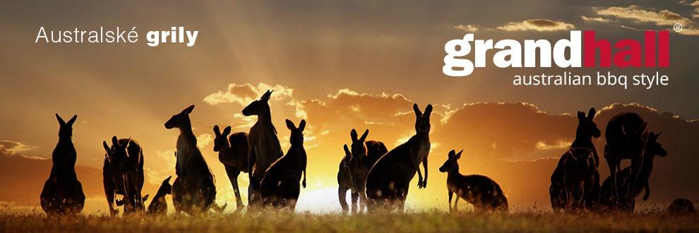 Klokani jsou pro změnu v logu australského výrobce grilů GrandHall