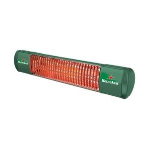 Infračervený zářič Tansun BAHAMA SINGLE - příklad individuálního designu (zde Heineken)