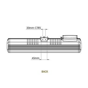 Infračervený zářič Tansun BAHAMA SINGLE - technický list s rozměry (zadní strana)