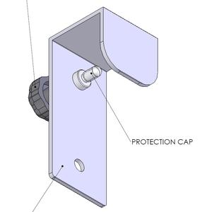 Infračervený zářič Tansun BAHAMA SINGLE - příplatkové příslušenství - jednoduchý držák