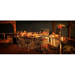 Vestavný plynový gril Napoleon PRESTIGE BIPRO500-1 - možnost elegantní obestavby grilovací kuchyně