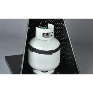 Plynový tepelný zářič HEATSTRIP - detail uložení plynové láhve