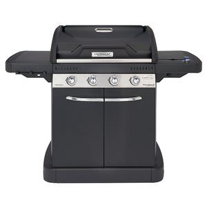 Plynový gril Campingaz Master 4 Series LXS Black Edition - 4-hořákový gril v elegantním celočerném provedení s postranním vařičem