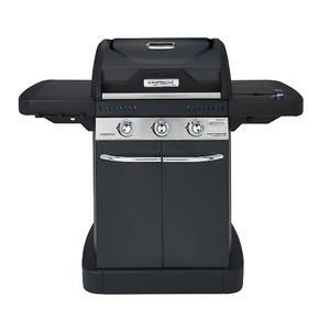Plynový gril Campingaz Master 3 Series LXS Black Edition - 3-hořákový gril s bočním vařičem v elegantním celočerném provedení
