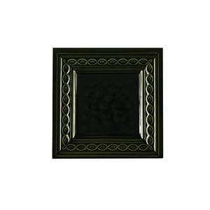 Kachlový sporák K3 - detail kachle Copánek v barvě zelená olivová