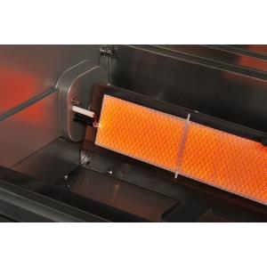 Vestavný plynový gril s infračervenými hořáky CROSSRAY+ 4 in-built - detail infrahořáku se zapalováním