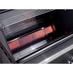 Vestavný plynový gril s infračervenými hořáky CROSSRAY+ 4 in-built - detail infrahořáků