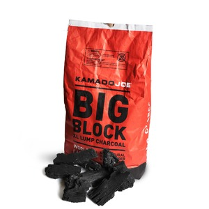 Dřevěné grilovací uhlí Kamado Joe - extra velké kusy 100% přírodního uhlí pro vysokou teplotu a dlouhou dobu grilování
