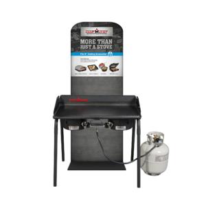 Plynový vařič Camp Chef EXPLORER STOVE 30 MB - vyobrazení s příplatkovou dvojitou grilovací deskou
