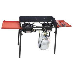 Plynový vařič Camp Chef EXPLORER STOVE 30 MB - přepravní taška s kolečky - příplatkové postranní police