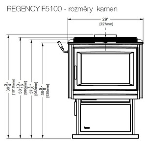 REGENCY F5100 - rozměry