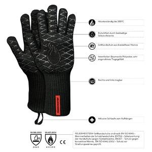 Kevlarové grilovací rukavice BBQ Premium (sada 2 ks) - špičková technologie, kvalita a vzhled