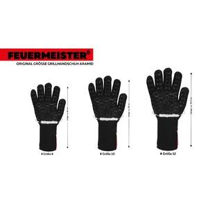 Kevlarové grilovací rukavice BBQ Premium (sada 2 ks) - rukavice se vyrábí ve 3 velikostech