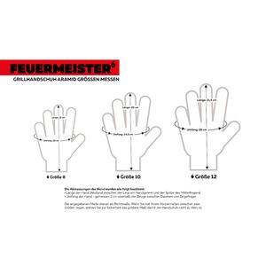 Kevlarové grilovací rukavice BBQ Premium (sada 2 ks) - rozměry