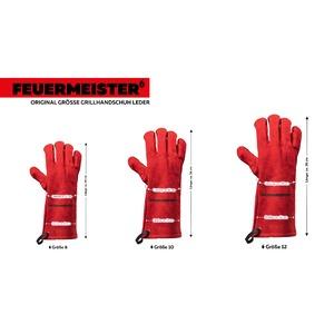 Kožené grilovací rukavice BBQ Premium (pár) - rukavice se vyrábí ve 3 velikostech