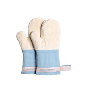 Kuchyňské rukavice Premium modré (pár) - kuchyňské chňapky v exkluzivním designu
