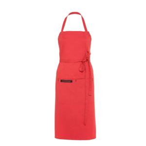 Textilní kuchyňská zástěra Premium červená - elegantní a stylový doplněk každé kuchařky
