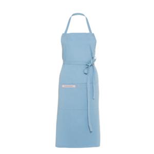 Textilní kuchyňská zástěra Premium modrá - elegantní a stylový doplněk každé kuchařky