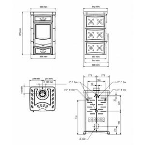 Nordica TERMONICOLETTA EVO D.S.A. - krbová kamna s teplovodním výměníkem