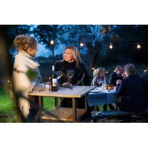 Ocelový party stůl Le Maitre Cool - stolek s vlastním zásobníkem ledu