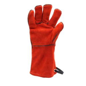 Kožené grilovací rukavice BBQ Premium (pár) - demonstrace snadno pohyblivých prstů
