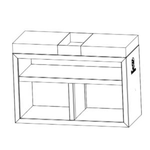 VULCANUS Masterbutcher - dostatek místa pro přípravu potravin a uložení dřeva