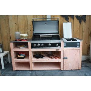 Vestavný plynový gril GrandHall MAXIM GT4B - komfortní vestavný gril s vnitřním a zadním keramickým hořákem