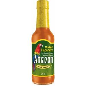 Amazon Hořčicová omáčka Habanero 155ml - 10887 - velmi pálivá omáčka z papriček Habaněro a směsi západních Indiánů Amazon Mustard Habanero Pepper Sauce