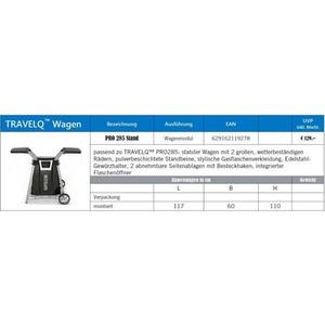 Pevný vozík s 2 policemi pro gril PRO285 - příplatkové příslušenství