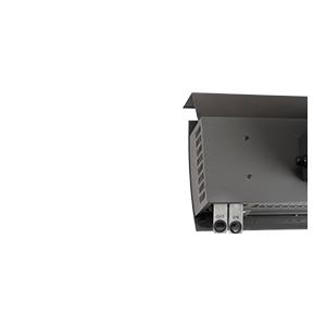 Nástěnný plynový tepelný zářič HEATSTRIP na propan-butan - detail ovládání on/off