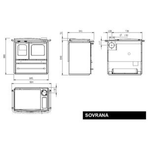 Smaltovaný sporák Nordica SOVRANA EVO 2.0