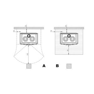 Smaltovaný teplovodní sporák Nordica Termosuprema Compact D.S.A. - zastavovací rozměry