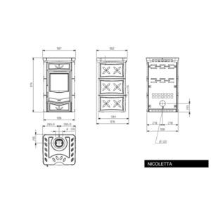 Nordica NICOLETTA VOGUE - technický nákres