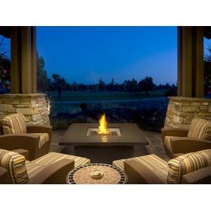 Designový terasový stůl s plamenem Napoleon Patio Flame MADRID obdélníkový