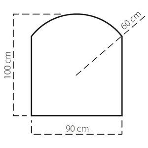 Plech pod kamna SAVE A 100x90 cm