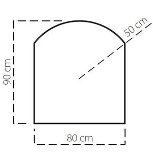 Plech pod kamna SAVE B 90x80 cm