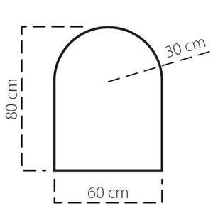 Plech pod kamna SAVE C 80x60 cm