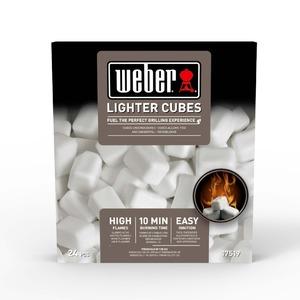 Bílé podpalovací kostky Weber - balení 24 kusů