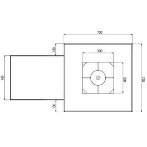 VULCANUS Grill Pro730 Masterchef - unikátní gril na vysokém a prodlouženém podstavci