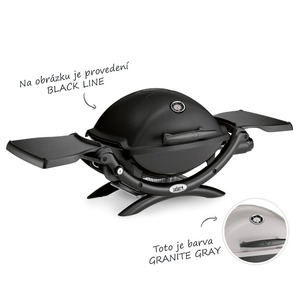 Plynový gril WEBER Q 1200 - přenosný plynový gril v elegantní černé barvě