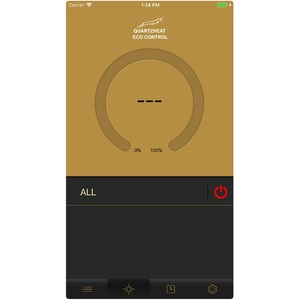 Regulátor výkonu TANSUN QEC30 3kW - detail aplikace v mobilním telefonu