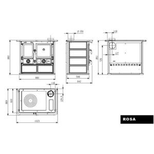 Nordica ROSA Maiolica - technický nákres