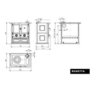 Nordica ROSETTA - rozměrový nákres
