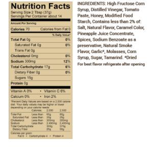 Grilovací omáčka Sweet Baby Ray´s Honey Barbecue Sauce (510g)