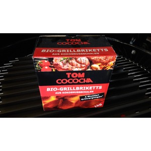 Kokosové grilovací brikety Tom Cococha 1 kg - kvalitní palivo do grilu s dlouhou dobou hoření a velkou výhřevností
