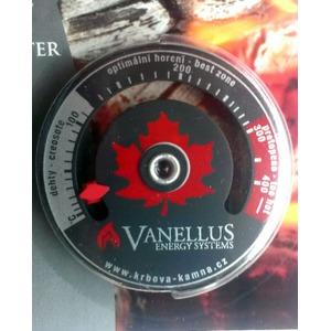 Teploměr spalin pro kamna a kotle Vanellus - pomocník pro vizuální kontrolu, zda topíte správně